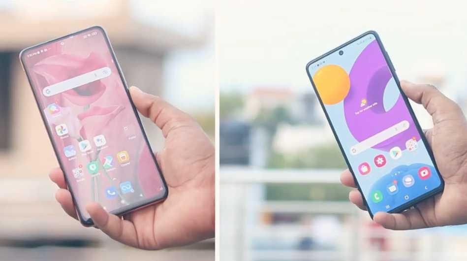 Samsung Galaxy M52 5G vs Redmi Note 10 Pro in Hindi